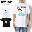 【10%OFFクーポン配布中】THRASHER スラッシャー Tシャツ MAY 1994 GONZ COVER S/S TEE TH8174 スケボー ストリート ゴンズ ホワイト ブラック M L XL