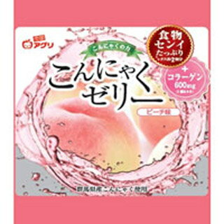 雪国アグリ こんにゃくゼリー (蒟蒻ゼリー) ピーチ味 18g×6個