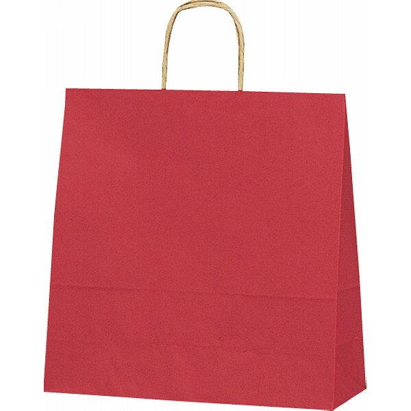 【E】紙袋 カラー無地 (XS)[赤] #3266300
