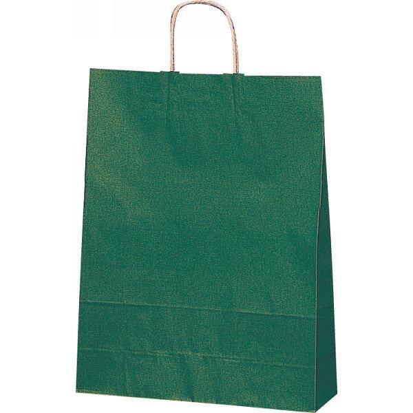 【E】紙袋 カラー無地 (XS)[緑] #3266302