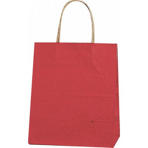 【E】紙袋 カラー無地 (SS)[赤] #3276803