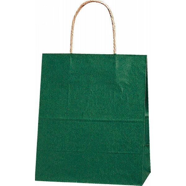 【E】紙袋 カラー無地 (S)[緑] #3251205