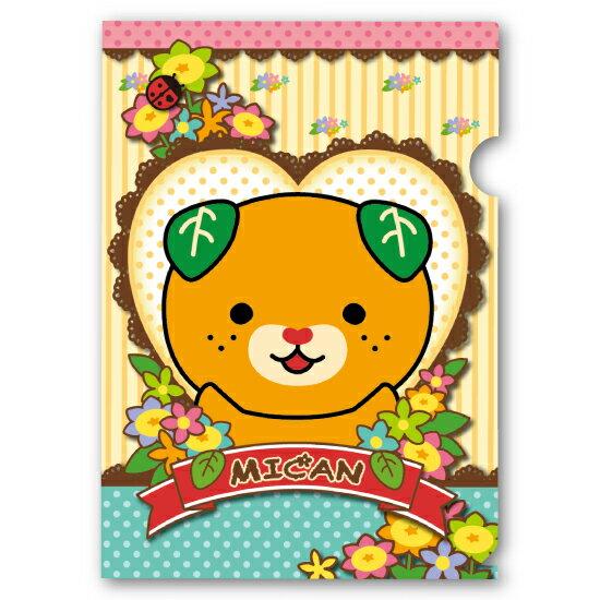みきゃん A4クリアファイル(花)...:at-home:11153091