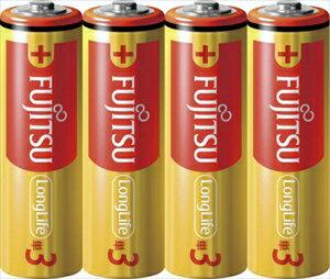【2/25開始!日替わり10円セール】富士通 アルカリ乾電池 単三形 4本パック LongLife LR6FL ( 4S ) (単三電池4本)( 4976680276805 )※お一人様最大1点限り
