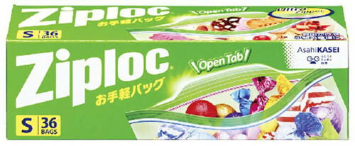 旭化成 ジップロック Ziploc お手軽バッグ Sサイズ 36枚入 ( 4901670111286 )