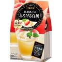 【直送・代引不可・同梱不可】三井農林 日東紅茶 厳選果汁のとろける白桃(10本入)