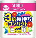 日本製紙クレシア スコッティ フラワーパック 3倍長持ち ダブル ( 内容量:4巻 ) ×5点セット ( 4901750227302 )
