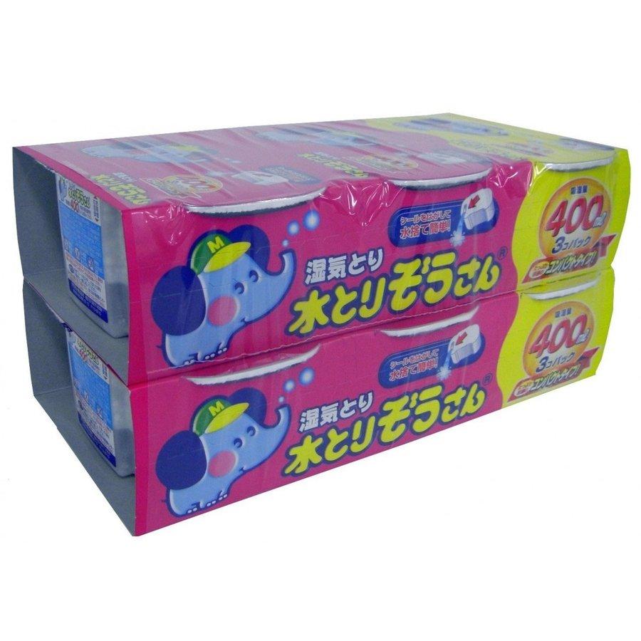 【お徳用】オカモト 水とりぞうさん 400ml×6個パック (除湿剤 タンス用)※お一人様最大8点まで(4904637999750)