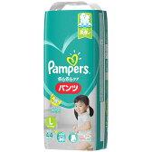【3個で送料無料】P&G パンパース さらさらケア パンツ 44枚 Lサイズ ( 9-14kg、服のサイズ70-90cm ) 男女共用×3点セット ( 4902430148887 )