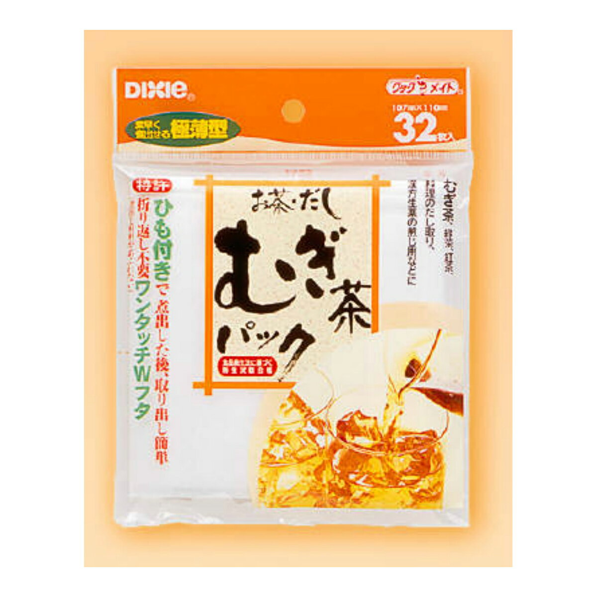 【10点セットで送料無料】日本デキシー デキシーお茶・だし・麦茶パック 32枚×10点セット ★まとめ買い特価! ( 4902172601756 )