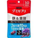 UHA味覚糖 グミサプリ 鉄 葉酸 10日分 20粒入 (4902750650268)