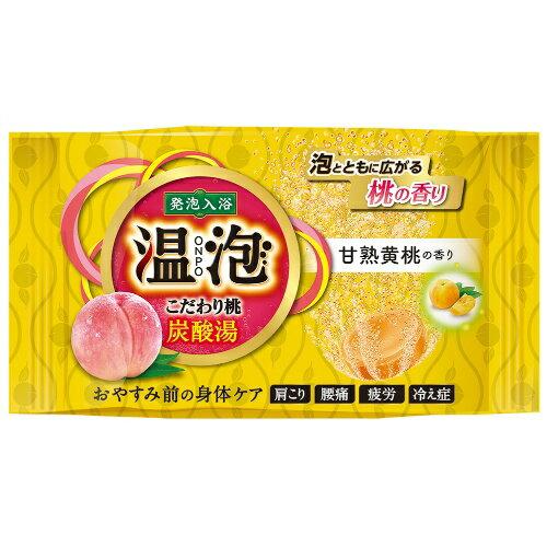 アース製薬 温泡 こだわり桃 炭酸湯 甘熟黄桃 1錠