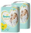 【送料無料 まとめ買い×2】P&G パンパース はじめての肌へのいちばん テープ スーパージャンボ 新生児 66枚入り×2点セット(計132枚) ( 赤ちゃん 紙オムツ ) ( 4902430693233 )