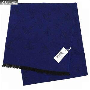 Vivienne Westwood ヴィヴィアン・ウェストウッド マフラー オーブ柄 81030013-10066-GE-K209 DARK BLUE