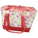 ショッピング保冷バッグ 【送料込】 スケーター レジカゴ用 保冷バッグ 巾着 ボタニカル 白 KBR61 1個