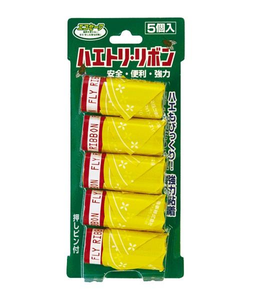 三共消毒 エコセーフのハエトリリボン 5個入の商品画像