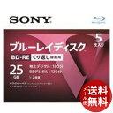 【メール便送料無料】ソニー ブルーレイディスク RE2倍速1層 Vシリーズ 5BNE1VLPS2 5枚入 1個