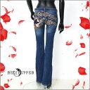 【送料無料】RED PEPPER(レッドペッパー) 羽根ウィング刺繍柄物 スカルギャル系 ロック系