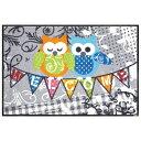 マット Welcome Owls G022A 50x75cm クリーンテックス