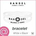 【正規品】BANDEL バンデルブレスレット Whitexblack M ※※