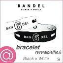 【正規品】BANDEL バンデル ナンバーブレスレット リバーシブル No.6 BlackxWhite S ※※