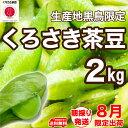 【送料無料】甘味濃厚 話題の枝豆「くろさき茶豆」 A級品 朝採り 新潟黒埼産 枝豆 2kg