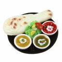 食品サンプル屋さんのマグネット(ナンカレー)食品サンプル ミニチュア 雑貨 食べ物 ナーン 外国 土産 リアル