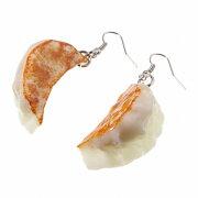 食品サンプル屋さんのピアス(餃子:両耳用)食品サンプル ミニチュア 雑貨 食べ物 ピアス 外国 土産 リアル