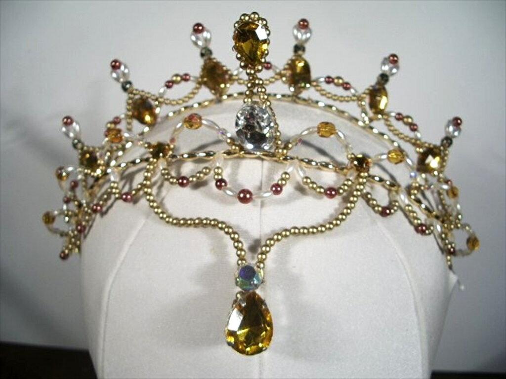 手作りバレエティアラ 8-1 ballet headpiece tiara  japan