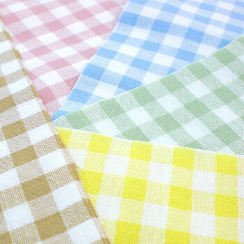 T/c gingham check fabric made in Japan (large) 5 colors 02P24Jun11