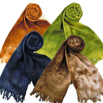 ◆ your walk for cotton gauze scarf * uneven pinch of bitter color dyed * ◆ towel unisex ladies men's Japan-02P24Jun11