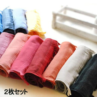 ◆Two pieces of natural linen /ICE UV cut / warm muffler set ◆ unisex Lady's men made in Japan