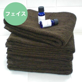 ◆ 02P24Jun11 made in hotel type hardware use use super high durability two-ply yarn volume face towel * dark brown * ◆ antibacterial deodorization Japan