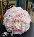 *misuzu*ベビーピンク♪ ふわふわコットンキャンディのような甘いブーケ  047 前撮り・海外挙式・リゾ婚 ブライダル 薔薇 アジサ..