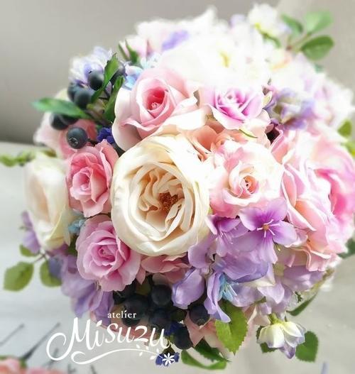 *misuzu* berryがキュート♪ラウンドブーケ・ブトニアセット 031 前撮り・海外挙式・リゾ婚 ブライダル