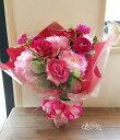 *misuzu* ボリューム感あり! 花束 ピンク系 送別会 2次会 バースデー 発表会 ブライダル両親贈呈用 造花なので水入らず!