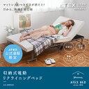 ★ポイント8倍★【送料無料】収納式電動リクライニングベッド AX-BE560 シングル アテッ