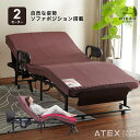 【組立設置/送料無料】くつろぐベッド 収納式 AX-BE835 (折りたたみベッド・電動ベッ