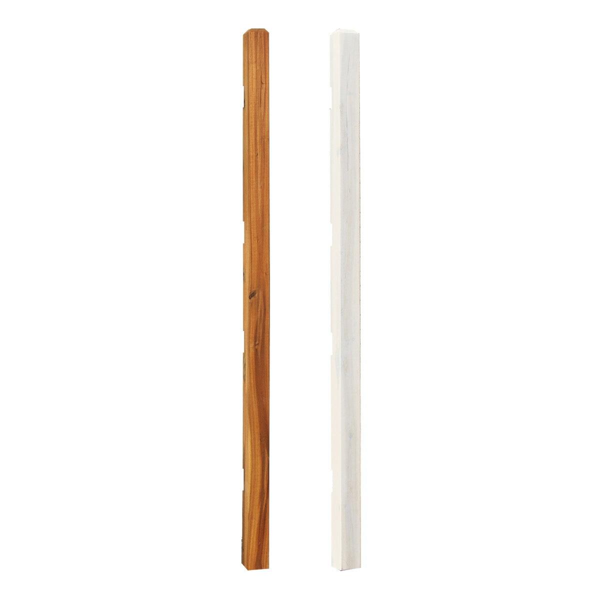【在庫限りで販売終了予定です:再入荷予定無し】 木製 フェンス ボーダーフェンス アカシア用 ポール ハイタイプ 高さ176cm 支柱単品1本 DIY ウッドフェンス 柱 外構フェンス akbp-74176