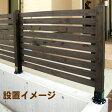 天然木製 ボーダーフェンス(スタンダード)目かくし(目隠し)や境界にウッドフェンス(木製フェンス)&ゲート(門扉)をDIY!商品型番:jsbf-790