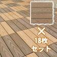 【スマホからのエントリーでポイント10倍!10/29AM10時まで】ウッディスケープ フロアパネル (18枚セット)今までなかった人工木材(エコウッド)のデザインです。商品型番:wpc-18