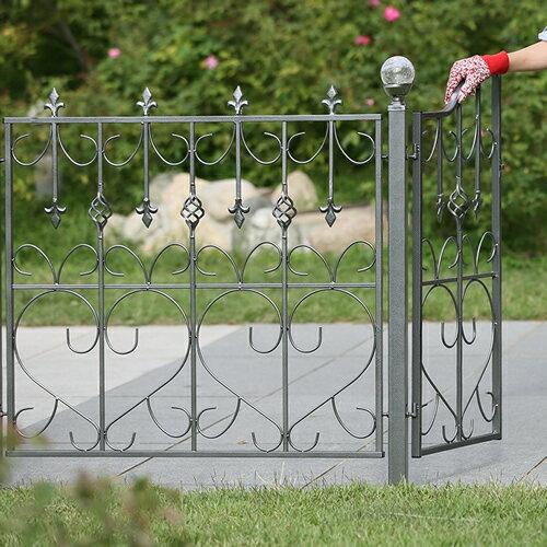 モダンエクステリアフェンス 【ハート】 4枚セット外構やお庭の仕切りに便利なゲートもつくれ…...:atgarden:10001187