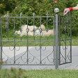 モダンエクステリアフェンスフェンス ハート 4枚セット外構やお庭の仕切りに便利なゲートもつくれるアイアンフェンス(アイアン フェンス・スチール フェンス・ガーデンフェンス)です。【カラー:シルバー】