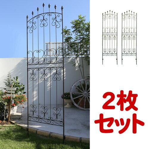 【ポイント5倍】アイアンローズフェンス ハイタイプ  2枚組【送料無料!】アイアンフェンス(アイアン・スチール製ガーデンフェンス)商品型番:ifrose-220-2p