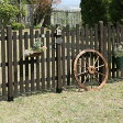 ボーダーフェンス 【ピケット ミドル】目かくし(目隠し)や境界にウッドフェンス・木製フェンス・ゲート(門扉)をDIY!商品型番:jsbf-1170