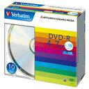Verbatim DHR47J10V1 データ用DVD−R 4.7GB 16倍速 ブランドシルバー 薄型ケース 10枚入