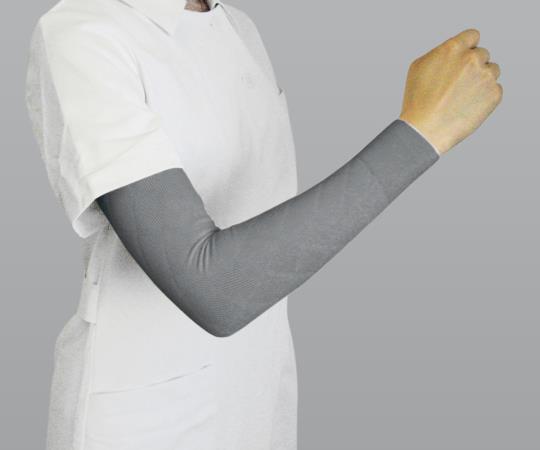 医療弾性スリーブ(弱圧タイプ・腕用)グレー S 1箱(2本入)8-6587-02