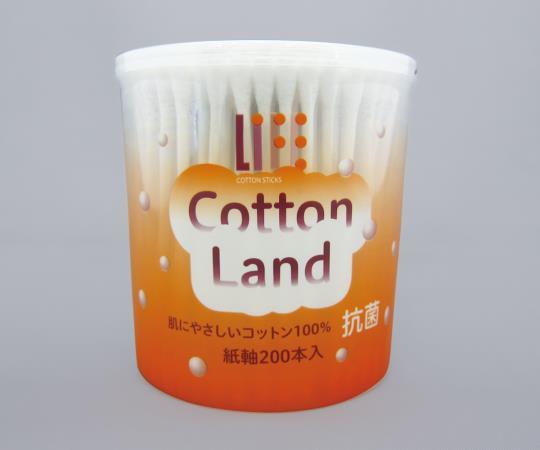抗菌コットンランド綿棒 6192 綿径×綿球長×全長(mm):φ4.7×15×79 1箱(200本入)
