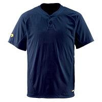 デサント(DESCENTE) ベースボールシャツ(2ボタン) (野球) DB201 Dネイビー Mの画像