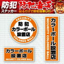 【防犯ステッカー】【防犯シール】セキュリティーステッカー「防...
